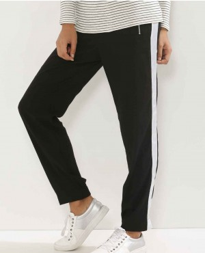 Cotton Jersey Side Stripe Narrow Leg Custom Joggers