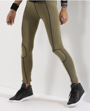 Cotton Sexy Patch And Seam Leggings