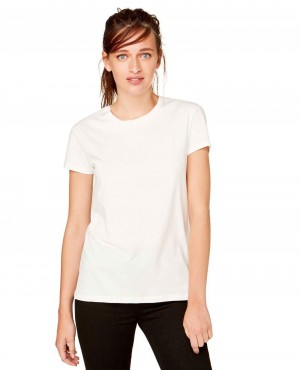 Crew Neck White T Shirt