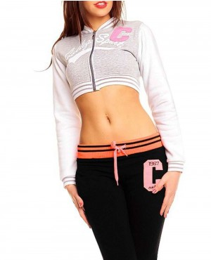 Cropped Body Fitted Ladies Varsity Jackets