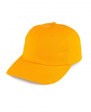 Curved Visor Baseball Cap Yellow