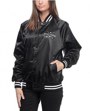 Custom Apparels Custom Branded Black Bomber Jacket