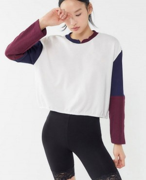 Custom Branded Colorblock Pullover Sweatshirt