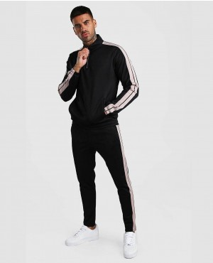 Custom Branded Signature Poly Tracksuit With Tape