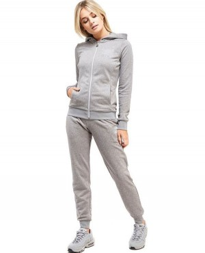 Custom Branded Women Stylish Zipper Hooded with Side Pockets SweatSuit