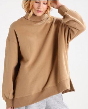 Custom Branding Sweatshirt Camel
