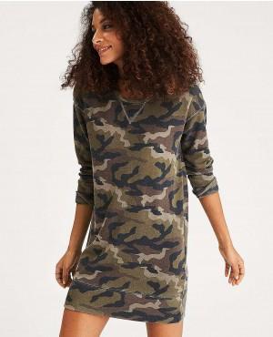 Custom Designs Camouflage Longline Sweatshirt