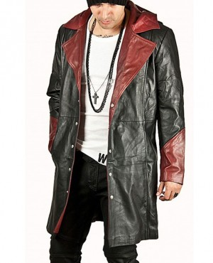 Custom Fashion Men Leather Coat