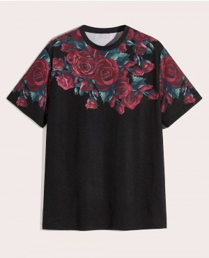 Custom Floral Design Print Short Sleeves