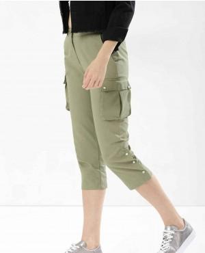 Custom Logo Women Cargo Knee Lenght Jogger Sweatpant