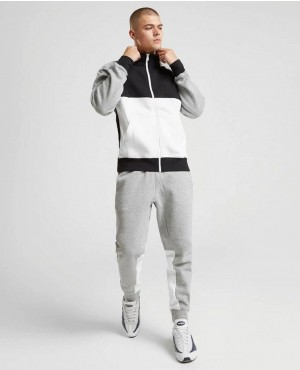 Custom Made Fleece Zipper Tracksuit with Blocks Details
