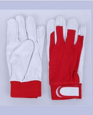 Custom Pair Gloves Mechanic Working Leather Glove