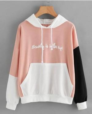 Custom Slogan Printed Pullover Women Hoodie