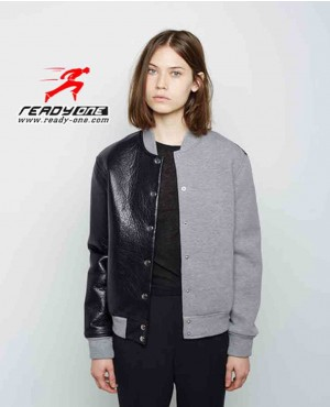 Custom Material Women Two Tone Varsity Jacket RO 109 (1)