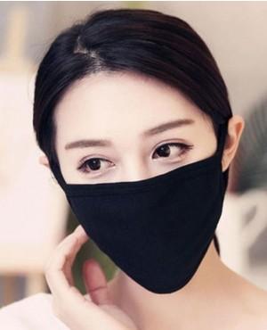 Cotton Face Masks Black Cute Cartoon Anti Dust Face Mouth Mask RO-3869-20