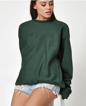 Drop Shoulder Crew Neck Sweatshirt