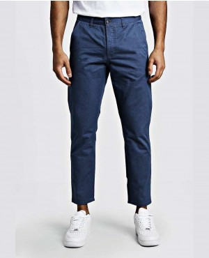 Dusty Blue Slim Fit Rigid Chino Trouser