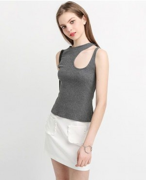 Elegant Slim Party Club Sleeveless Streetwear Casual Tops