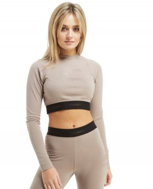 Exelent Quality And Custom Air Long Sleeve Crop Top