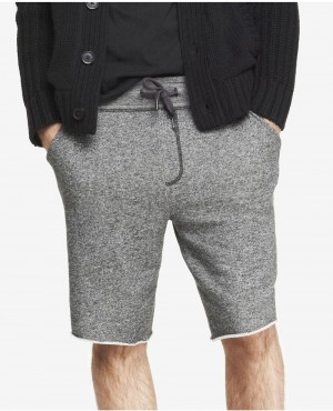 Express Black French Terry Lounge Shorts
