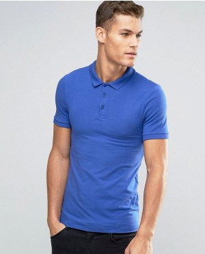 Extreme Muscle Polo Shirt In Blue