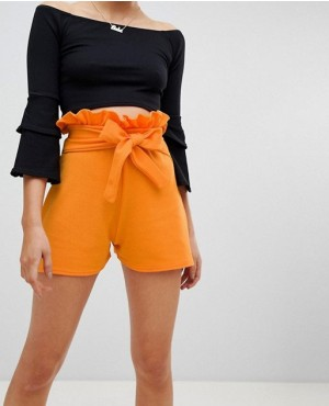 Fashion European Style Pure Color Plain Slim Women Biker Shorts