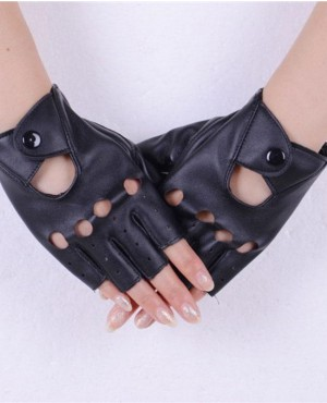 Fashion Half Finger Gloves PU Leather