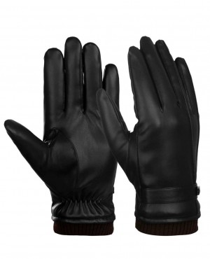 Fashion Winter Leather Gloves Touchscreen PU Leather