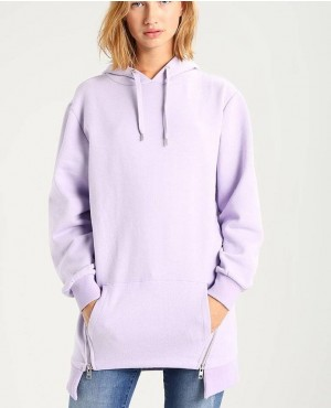 Fashionable And Wholesale Long Style With Side Zipper Hoodie