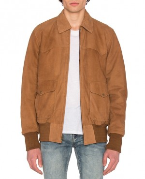 Fashionable Nubuck Flight Jacket