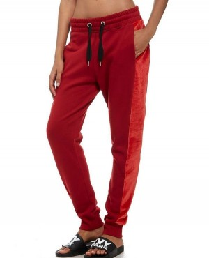 Fashionable Velvet Custom Panel Joggers