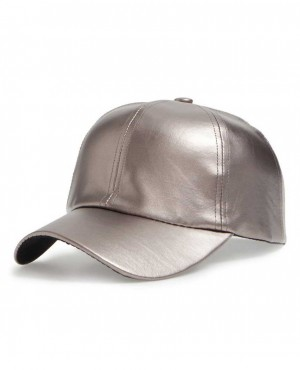 Faux Leather Stylish Ball Cap