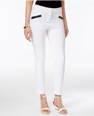 Faux Leather Trim Skinny Pants Wholesale