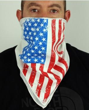 Flag White Bandana Face Mask