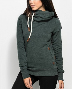 Forest Green Pullover Hoodie With Side Pocket