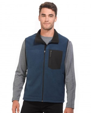 Front Pocket Zipper Collar Fleece Vest