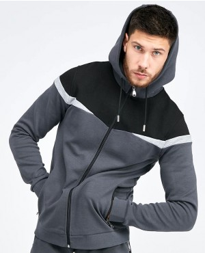 Full Panel Zipper Hooded Top