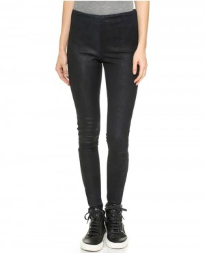 Grain Leather Ladies Pant