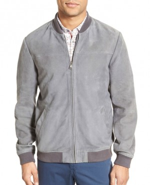 Genuine Leather Wholesale Suede Bomber Jacket