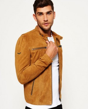 Genuine Suede Custom Biker Leather Jacket