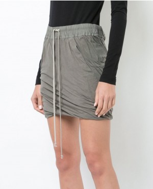 Grey Color Drawstring Waist Shorts