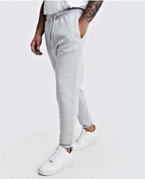 Grey Marl Basic Skiny Fit Fleece Jogger