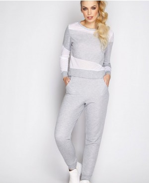 Grey Mesh Custom Womens Wholesale Sweatsuit