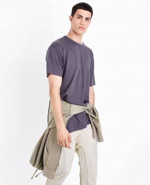 Grey Split Hem Longline T Shirt