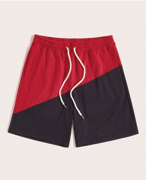 Guys Drawstring Waist Two Tone Shorts