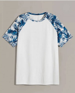 Guys Jungle Leaf Raglan Sleeve Tee