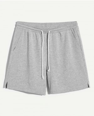 Guys Slit Hem Marled Drawstring Shorts