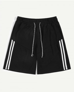 Guys Striped Drawstring Waist Shorts