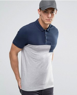Half-&-Half-Muscle-Polo-With-Pocket-In-Navy-and-Grey-Marl-RO-102536-(1)