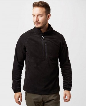 Half Zip Black Fleece Jackets